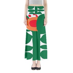 Portraits Plants Sunflower Green Orange Flower Full Length Maxi Skirt