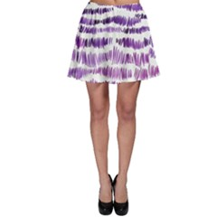 Original Feather Opaque Color Purple Skater Skirt