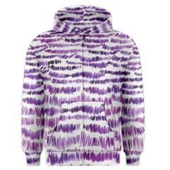 Original Feather Opaque Color Purple Men s Zipper Hoodie