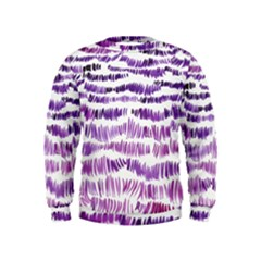 Original Feather Opaque Color Purple Kids  Sweatshirt