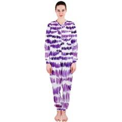 Original Feather Opaque Color Purple OnePiece Jumpsuit (Ladies)