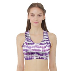 Original Feather Opaque Color Purple Sports Bra with Border