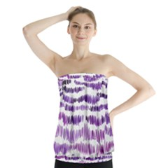 Original Feather Opaque Color Purple Strapless Top