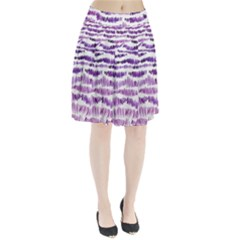 Original Feather Opaque Color Purple Pleated Skirt