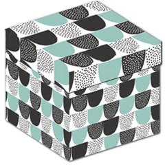 Sugar Blue Fabric Polka Dots Circle Storage Stool 12