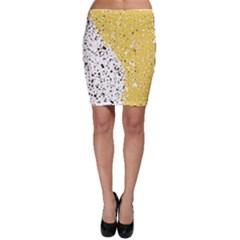 Spot Polka Dots Orange Black Bodycon Skirt