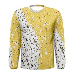 Spot Polka Dots Orange Black Men s Long Sleeve Tee