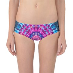 Red Blue Tie Dye Kaleidoscope Opaque Color Circle Classic Bikini Bottoms