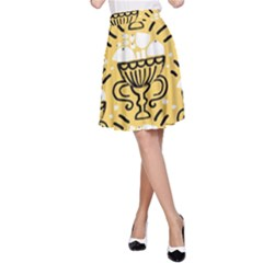 Trophy Beers Glass Drink A-Line Skirt