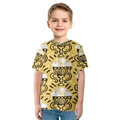 Trophy Beers Glass Drink Kids  Sport Mesh Tee