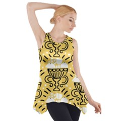 Trophy Beers Glass Drink Side Drop Tank Tunic