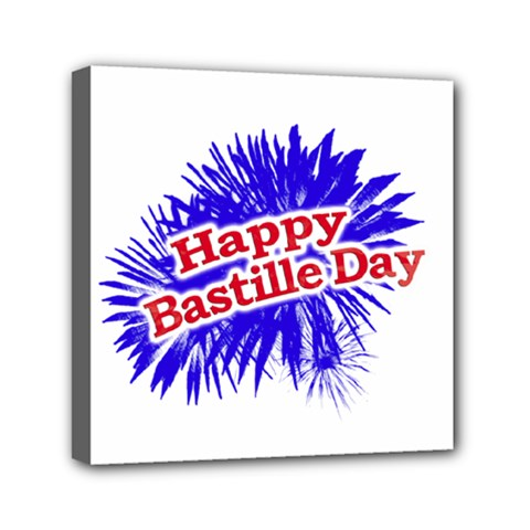Happy Bastille Day Graphic Logo Mini Canvas 6  x 6