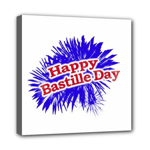 Happy Bastille Day Graphic Logo Mini Canvas 8  X 8