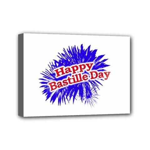 Happy Bastille Day Graphic Logo Mini Canvas 7  x 5