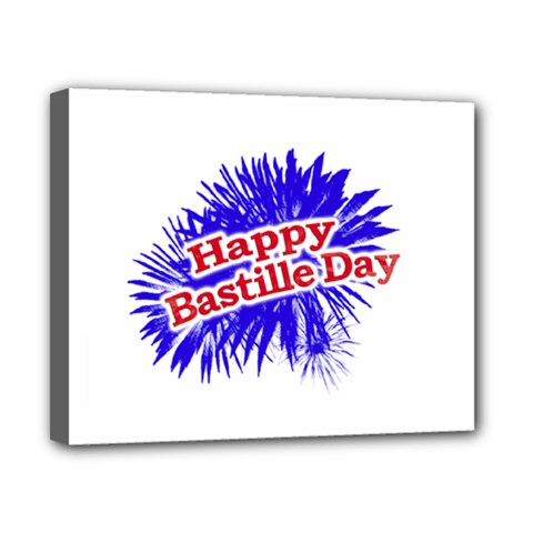 Happy Bastille Day Graphic Logo Canvas 10  x 8