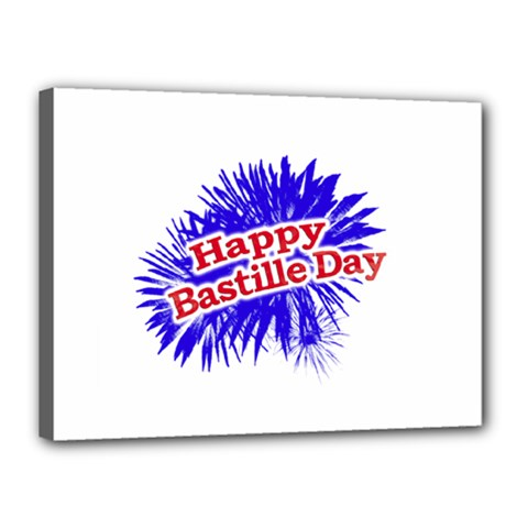 Happy Bastille Day Graphic Logo Canvas 16  x 12