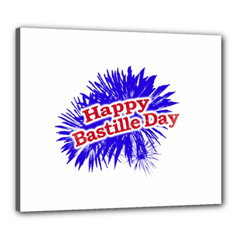 Happy Bastille Day Graphic Logo Canvas 24  x 20