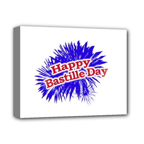 Happy Bastille Day Graphic Logo Deluxe Canvas 14  x 11