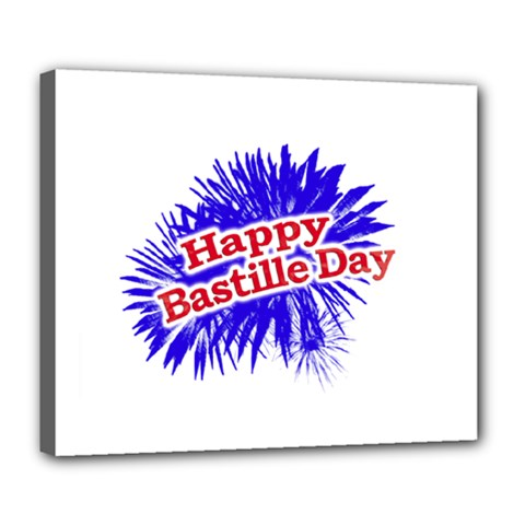 Happy Bastille Day Graphic Logo Deluxe Canvas 24  x 20