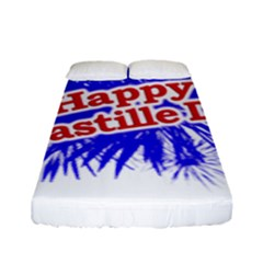 Happy Bastille Day Graphic Logo Fitted Sheet (Full/ Double Size)