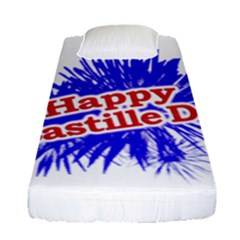 Happy Bastille Day Graphic Logo Fitted Sheet (Single Size)