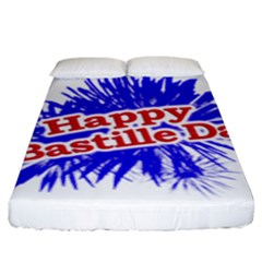 Happy Bastille Day Graphic Logo Fitted Sheet (King Size)