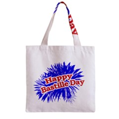 Happy Bastille Day Graphic Logo Zipper Grocery Tote Bag