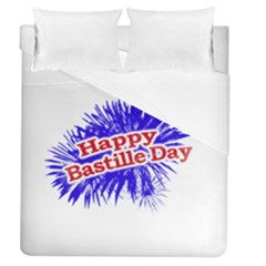 Happy Bastille Day Graphic Logo Duvet Cover (Queen Size)