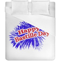 Happy Bastille Day Graphic Logo Duvet Cover (California King Size)