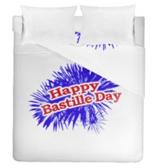 Happy Bastille Day Graphic Logo Duvet Cover Double Side (Queen Size)