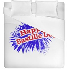 Happy Bastille Day Graphic Logo Duvet Cover Double Side (King Size)