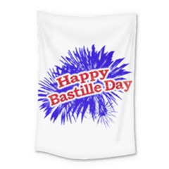 Happy Bastille Day Graphic Logo Small Tapestry
