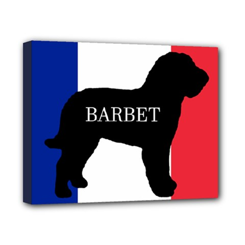 Barbet Name Silhouette on flag Canvas 10  x 8