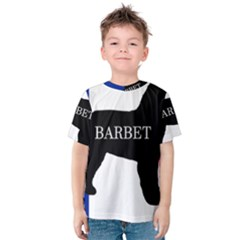 Barbet Name Silhouette on flag Kids  Cotton Tee