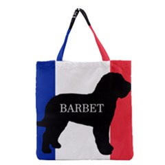 Barbet Name Silhouette on flag Grocery Tote Bag