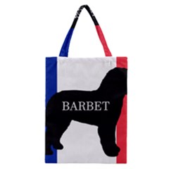 Barbet Name Silhouette on flag Classic Tote Bag