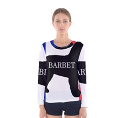 Barbet Name Silhouette on flag Women s Long Sleeve Tee