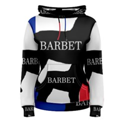 Barbet Name Silhouette on flag Women s Pullover Hoodie