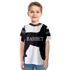 Barbet Name Silhouette on flag Kids  Sport Mesh Tee