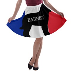 Barbet Name Silhouette on flag A-line Skater Skirt