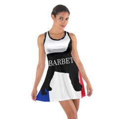 Barbet Name Silhouette on flag Cotton Racerback Dress