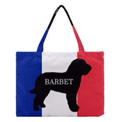 Barbet Name Silhouette on flag Medium Tote Bag