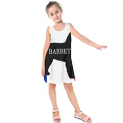 Barbet Name Silhouette on flag Kids  Sleeveless Dress
