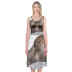 Greyhound Midi Sleeveless Dress