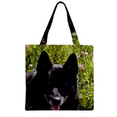 Norwegian Buhund Zipper Grocery Tote Bag