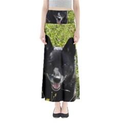 Norwegian Buhund Full Length Maxi Skirt