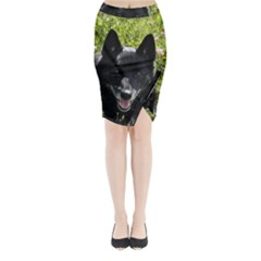 Norwegian Buhund Midi Wrap Pencil Skirt