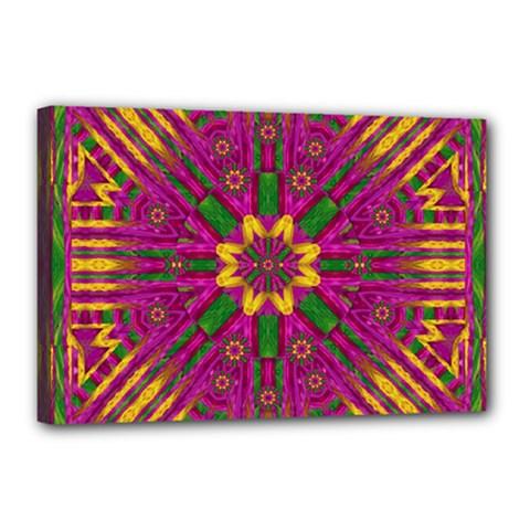 Feather Stars Mandala Pop Art Canvas 18  X 12