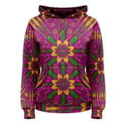 Feather Stars Mandala Pop Art Women s Pullover Hoodie
