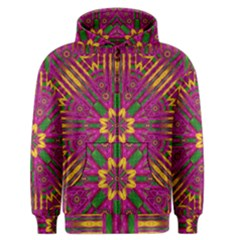 Feather Stars Mandala Pop Art Men s Zipper Hoodie